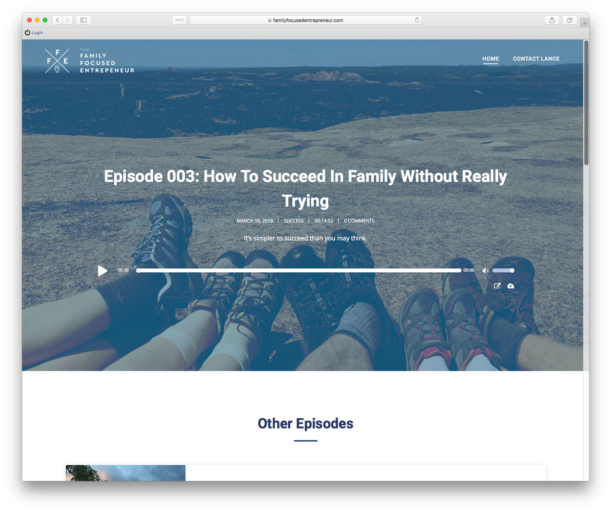 Family Focused Entrepreneur Podcast